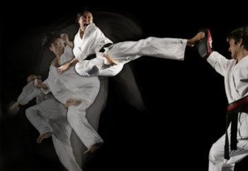 Taekwondo speed practice